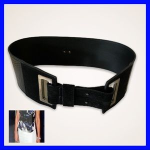 MaxMara leather & suede cinch belt